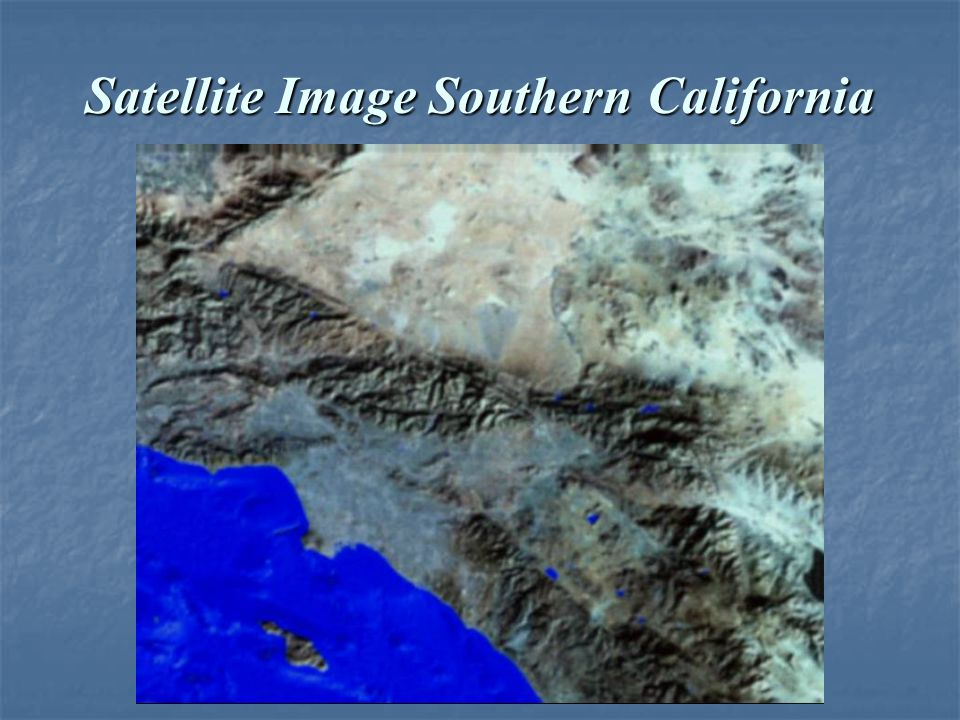Satellite Image Southern California