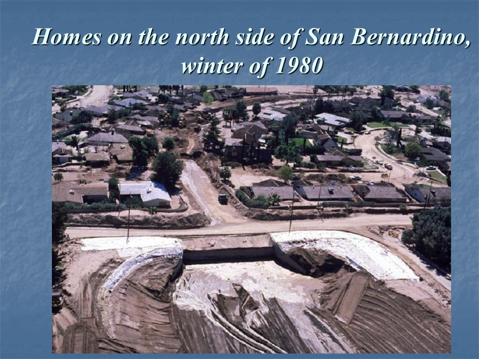 Homes on the north side of San Bernardino, winter of 1980