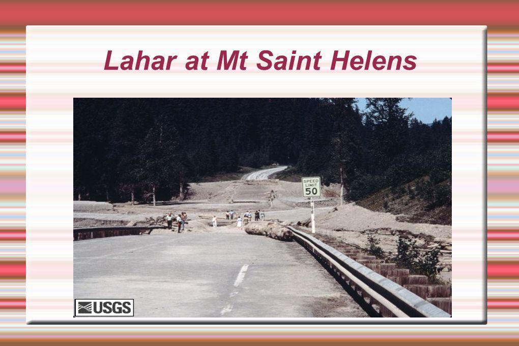 Lahar at Mt Saint Helens
