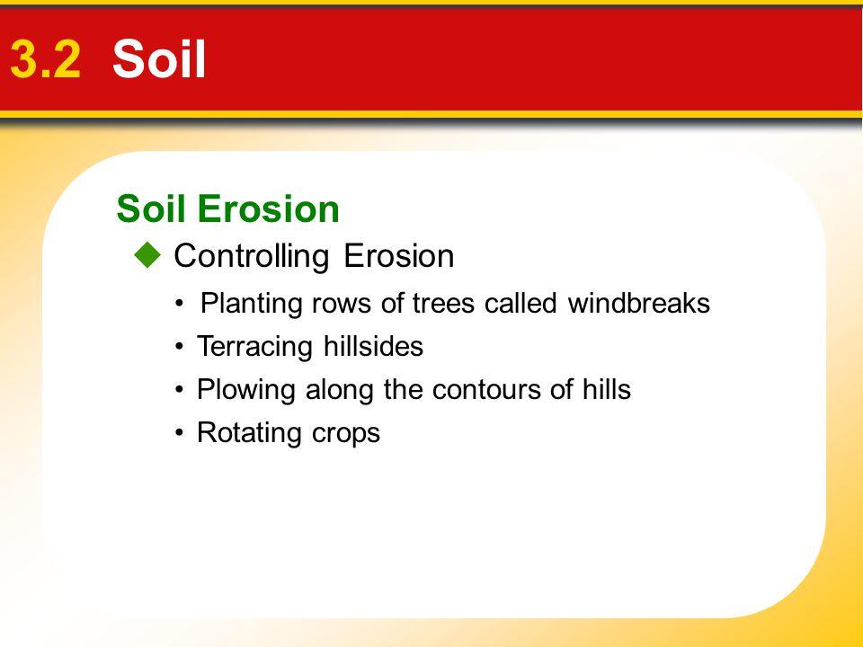 3.2 Soil Soil Erosion  Controlling Erosion