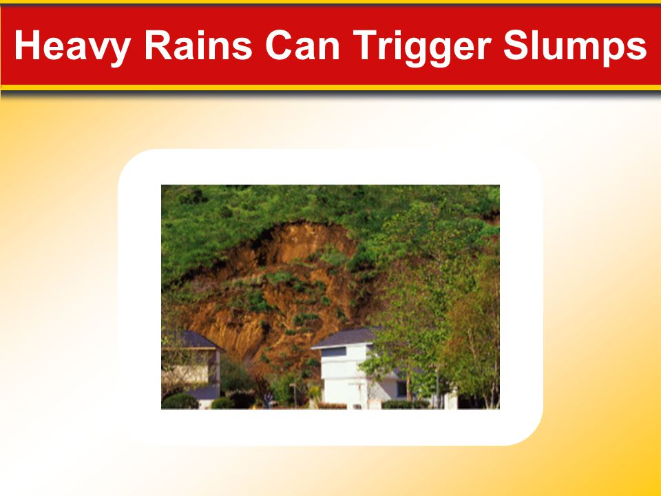 Heavy Rains Can Trigger Slumps