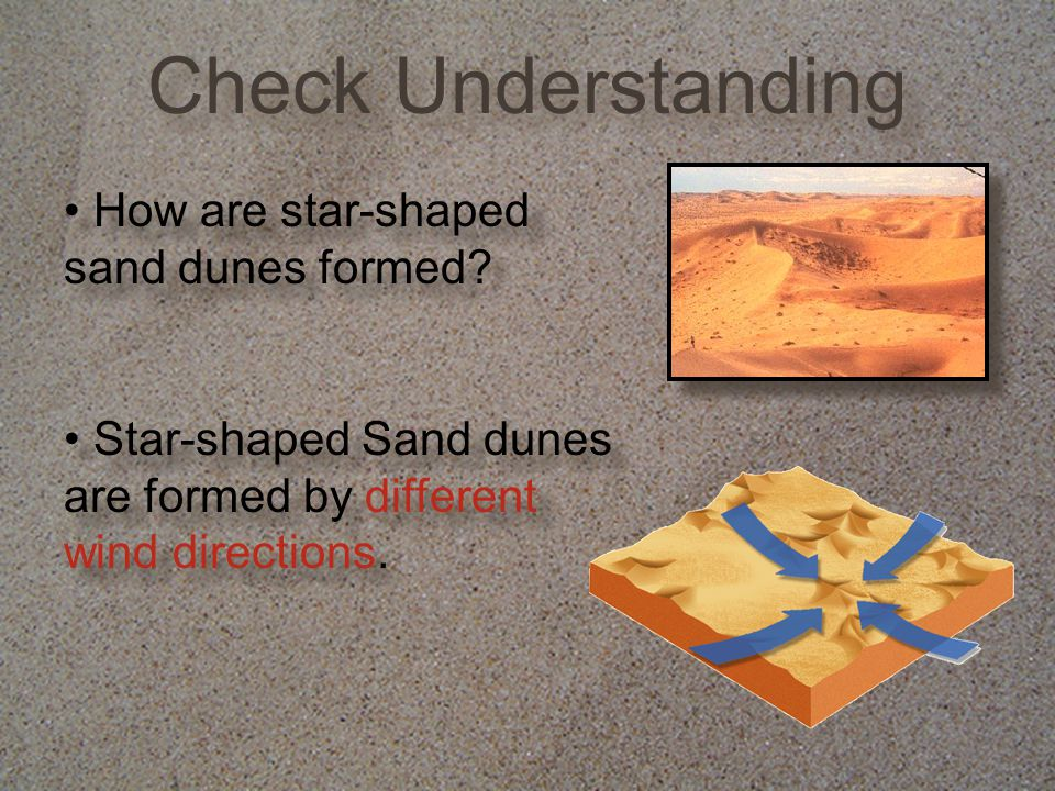 How are star-shaped sand dunes formed