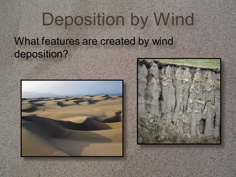 What features are created by wind deposition