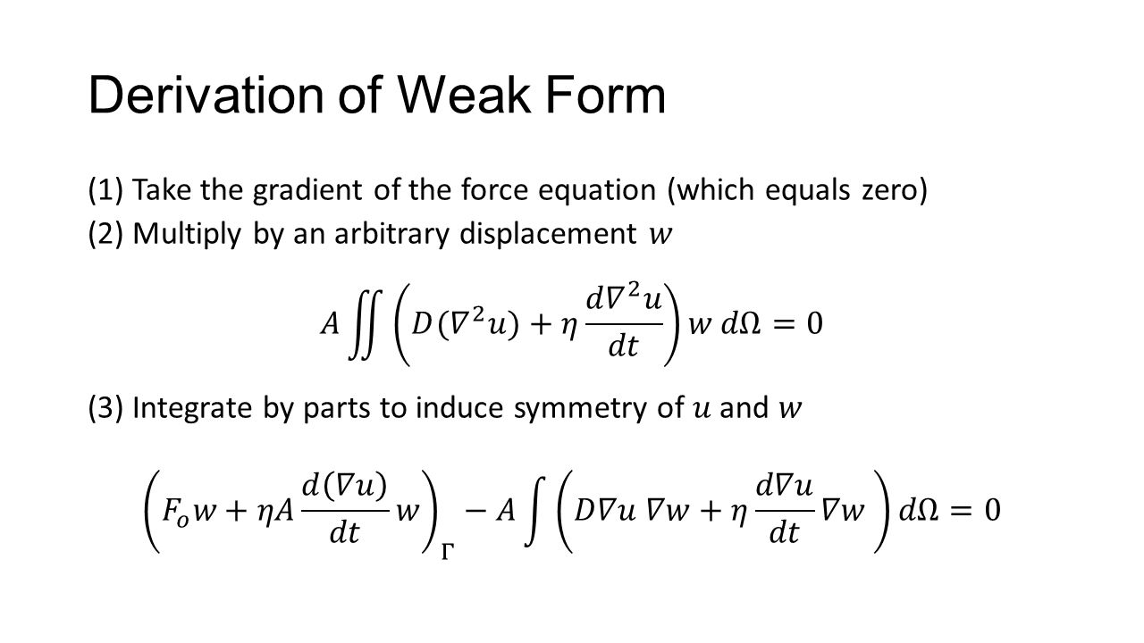 Derivation of Weak Form