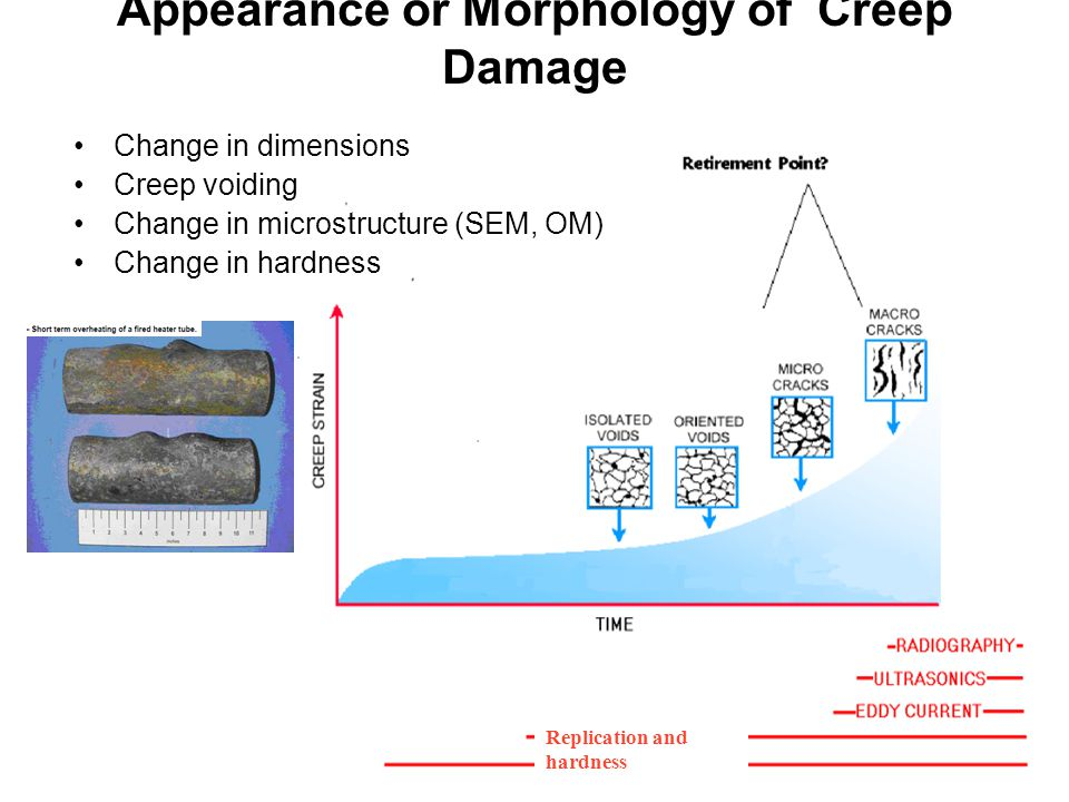 Appearance or Morphology of Creep Damage