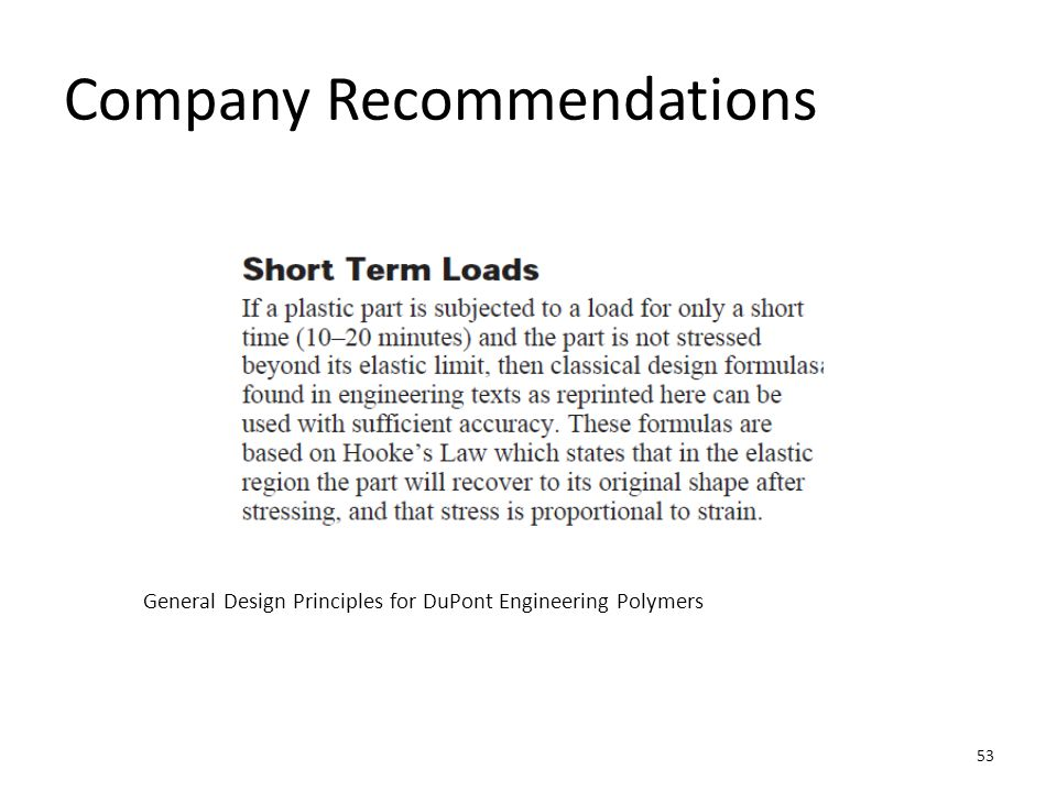 Company Recommendations