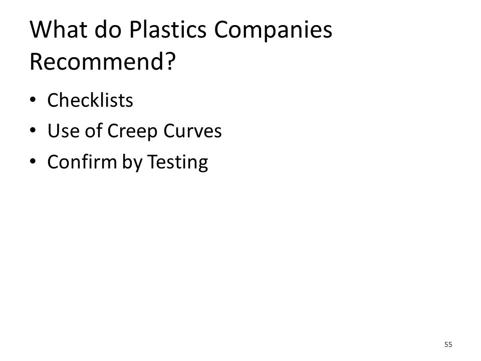 What do Plastics Companies Recommend