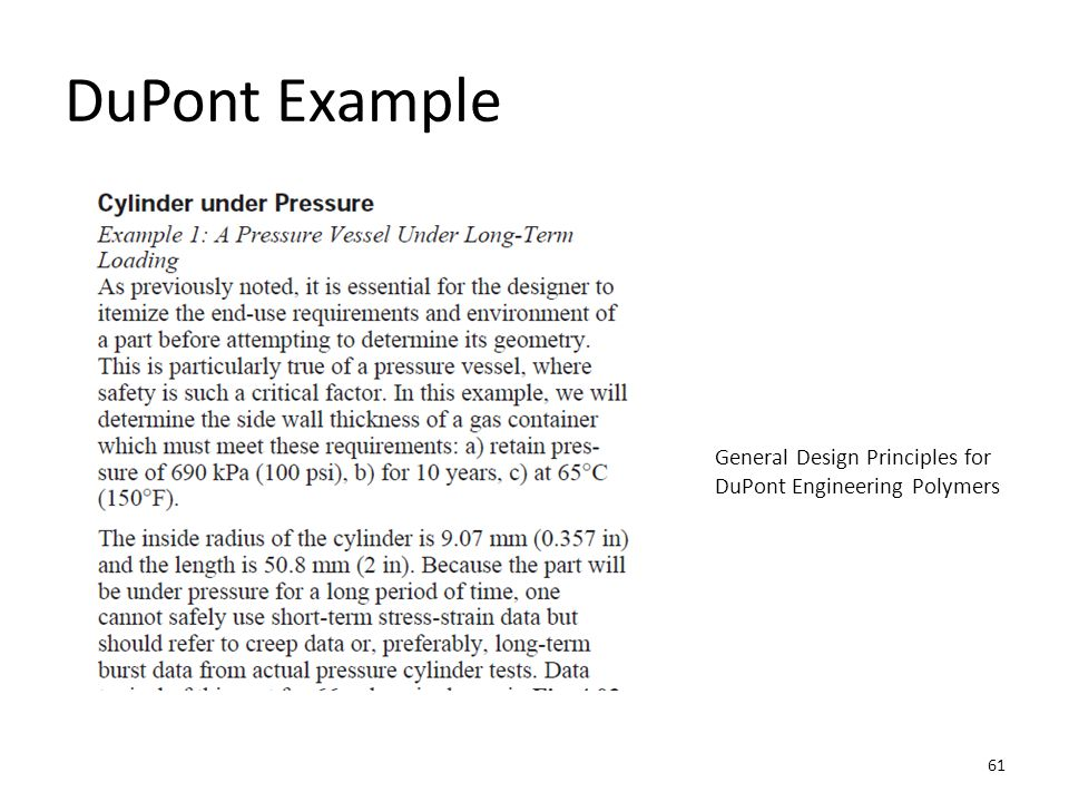 DuPont Example General Design Principles for DuPont Engineering Polymers