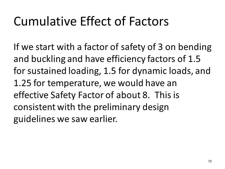 Cumulative Effect of Factors