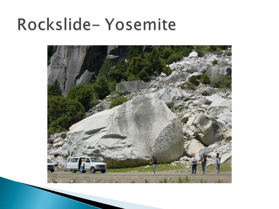 Rockslide- Yosemite