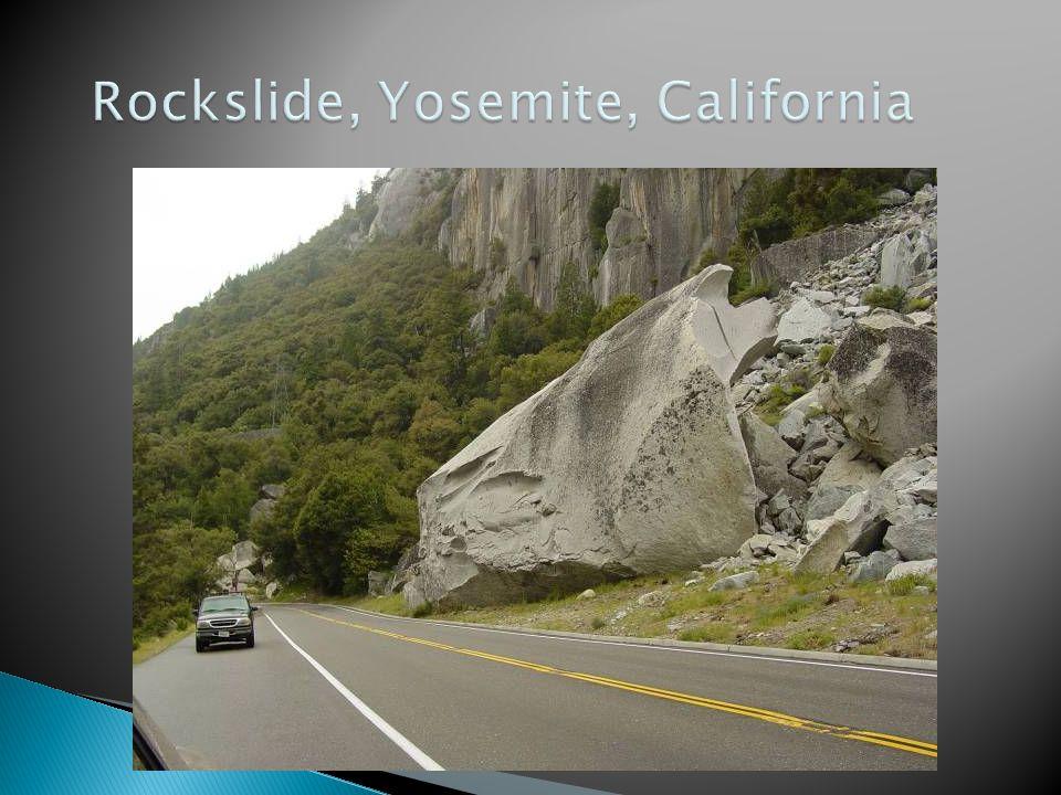 Rockslide, Yosemite, California