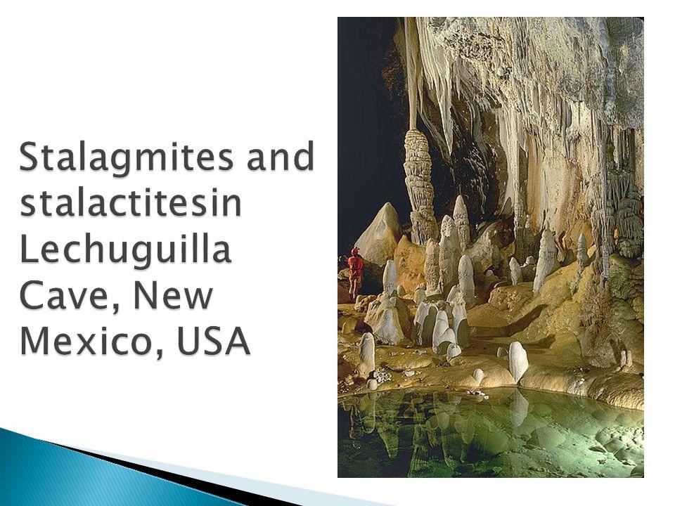 Stalagmites and stalactitesin Lechuguilla Cave, New Mexico, USA