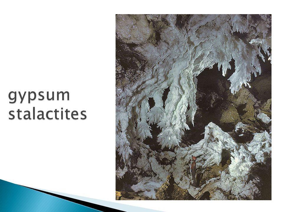 gypsum stalactites