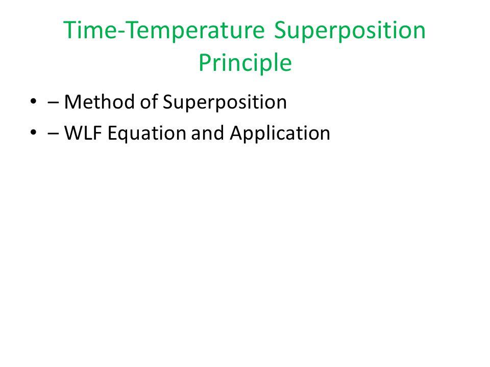 Time-Temperature Superposition Principle