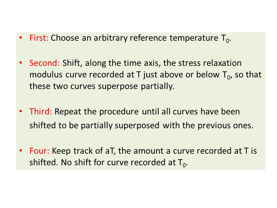 First: Choose an arbitrary reference temperature T0.