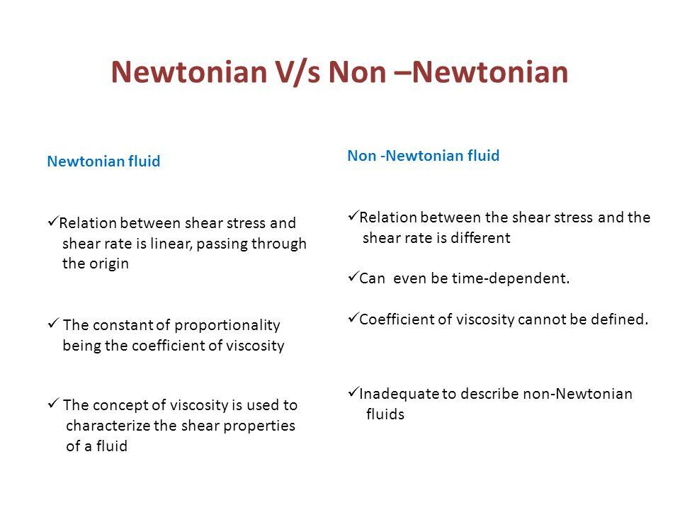 Newtonian V/s Non –Newtonian