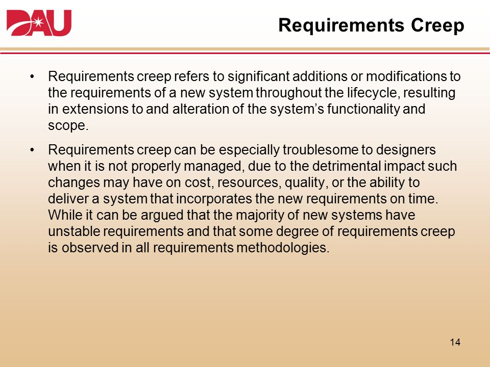 Requirements Creep