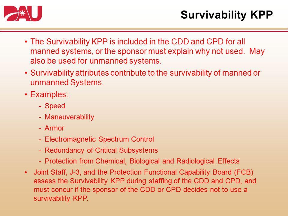 Survivability KPP