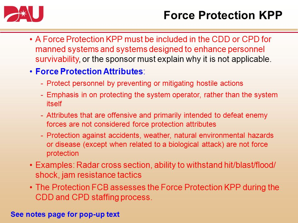Force Protection KPP