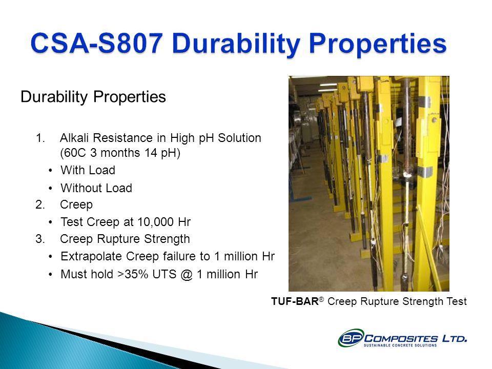 CSA-S807 Durability Properties