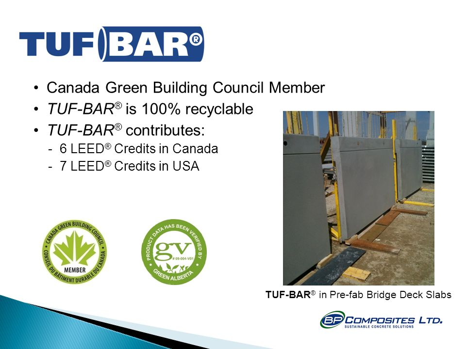 TUF-BAR® in Pre-fab Bridge Deck Slabs
