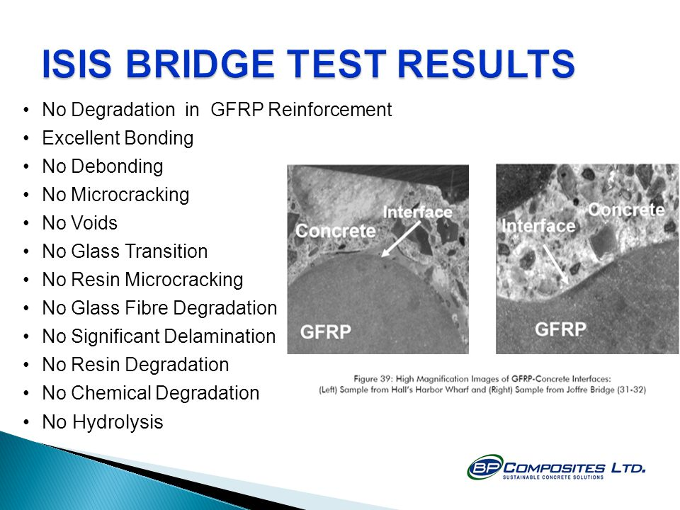 ISIS BRIDGE TEST RESULTS