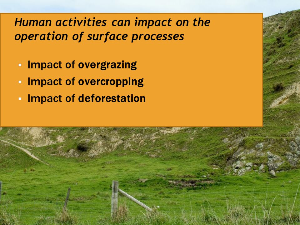 Impact of overcropping Impact of deforestation