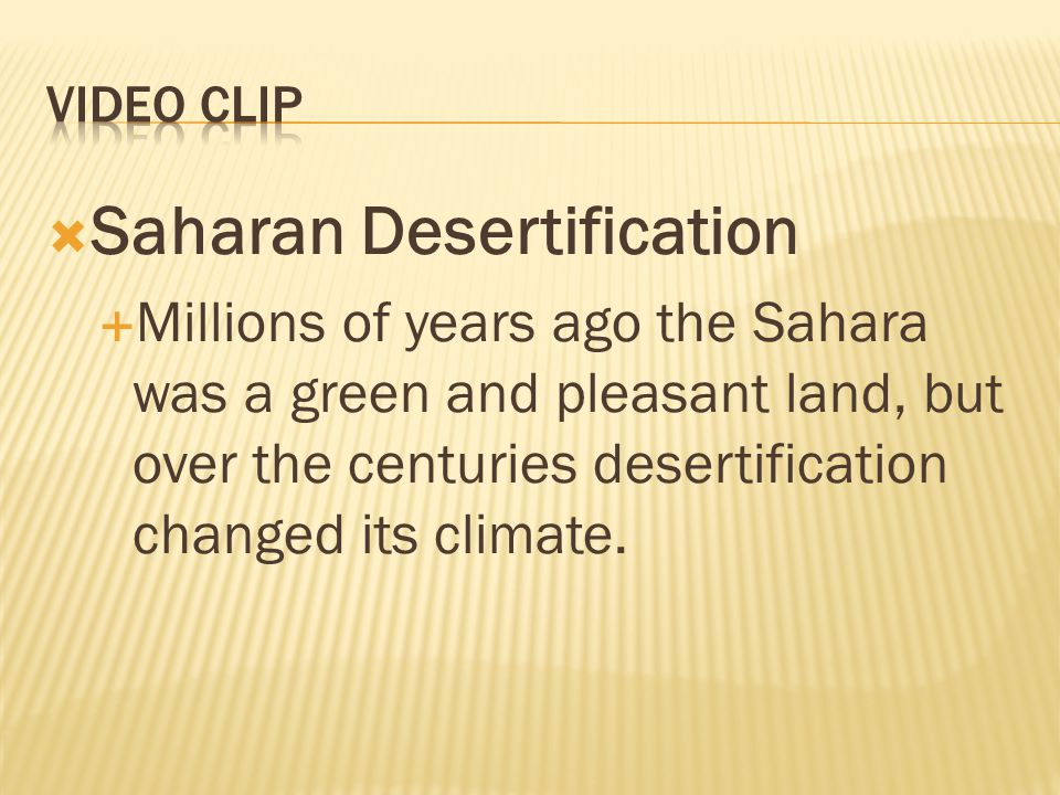 Saharan Desertification