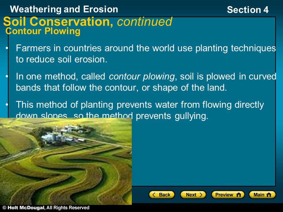 Soil Conservation, continued