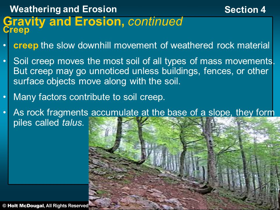 Gravity and Erosion, continued