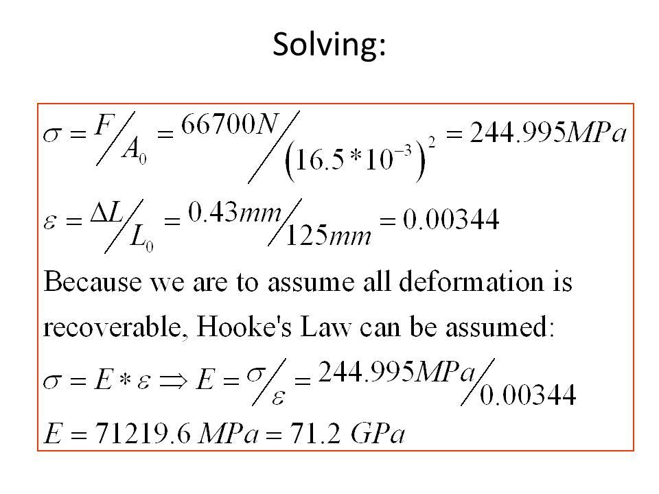 Solving: