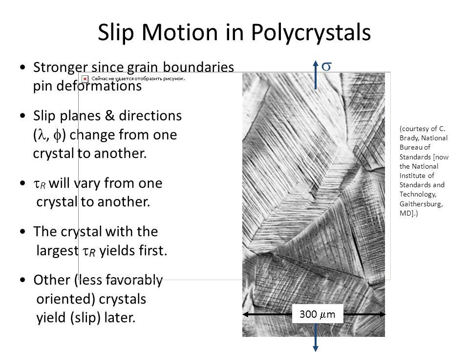 Slip Motion in Polycrystals