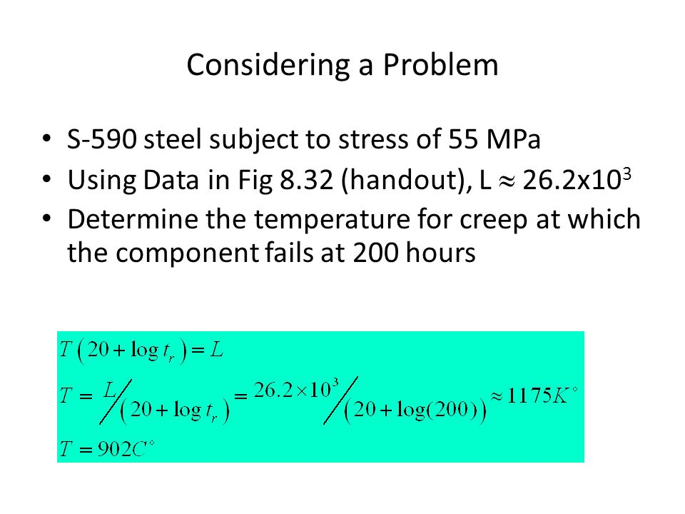 Considering a Problem S-590 steel subject to stress of 55 MPa