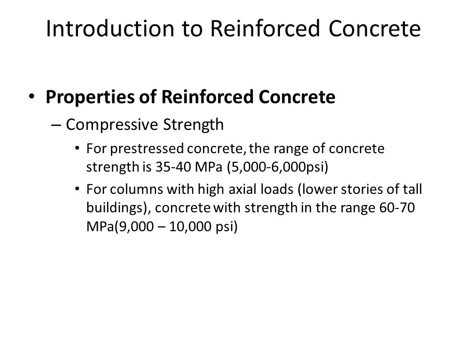 Introduction to Reinforced Concrete