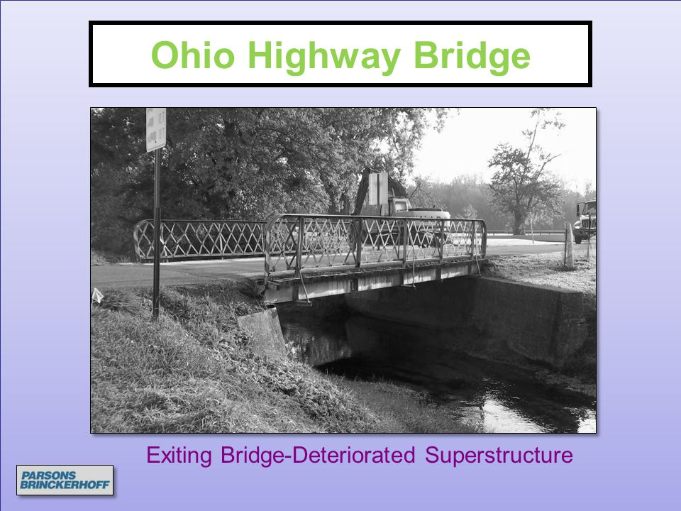 Exiting Bridge-Deteriorated Superstructure