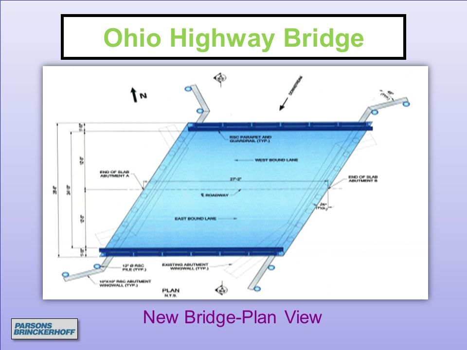 Ohio Highway Bridge New Bridge-Plan View