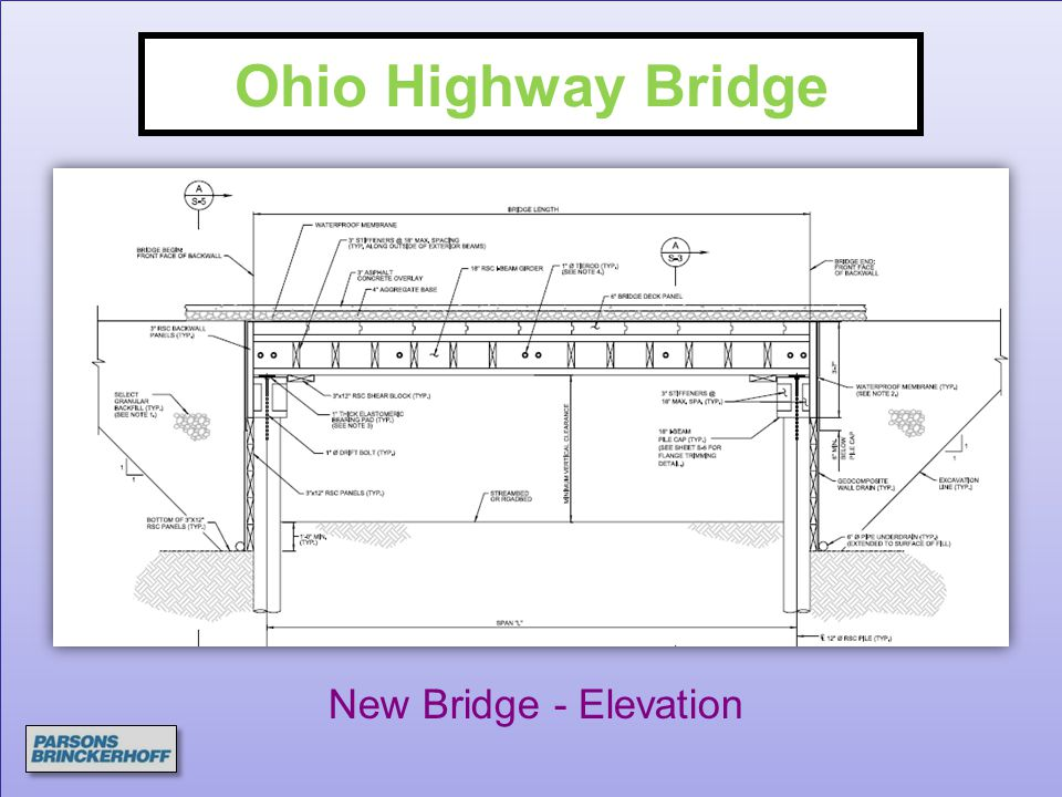 Ohio Highway Bridge New Bridge - Elevation
