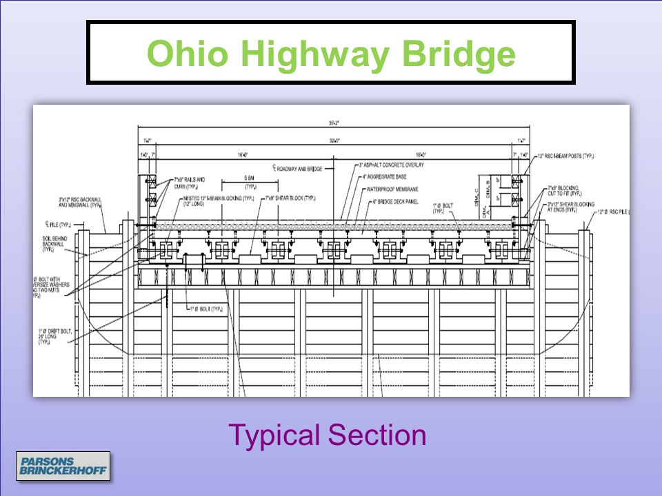 Ohio Highway Bridge Typical Section