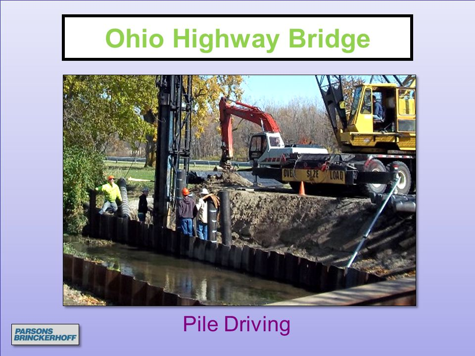 Ohio Highway Bridge Pile Driving