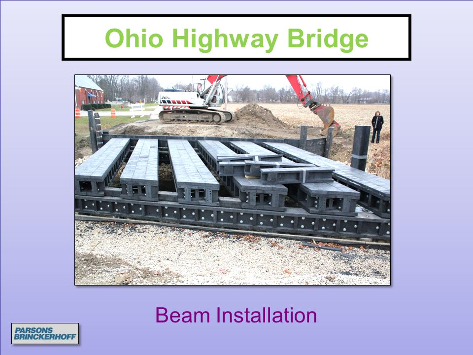 Ohio Highway Bridge Beam Installation