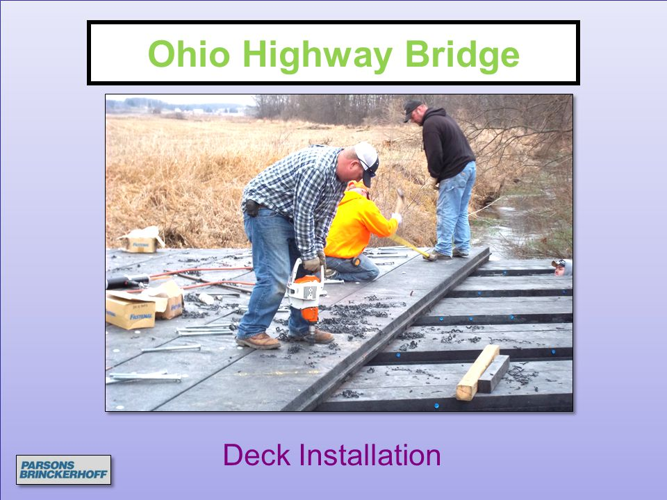 Ohio Highway Bridge Deck Installation