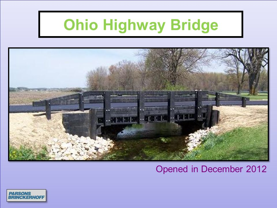 Ohio Highway Bridge Opened in December 2012