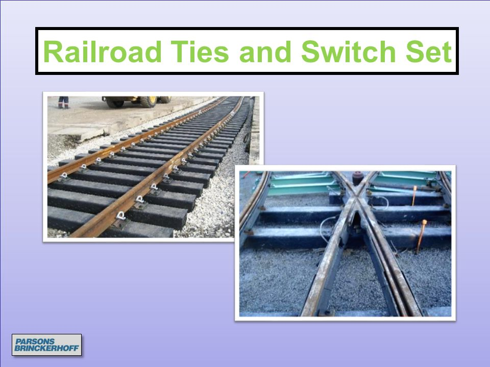 Railroad Ties and Switch Set