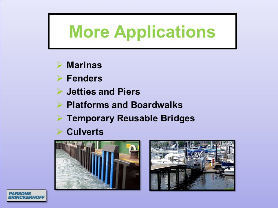 More Applications Marinas Fenders Jetties and Piers