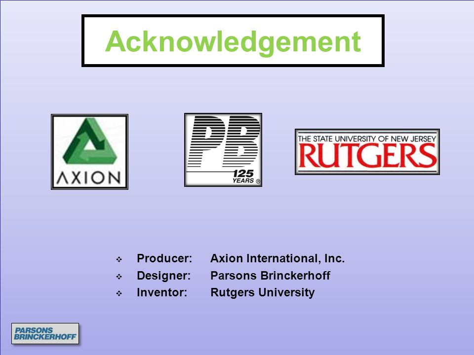 Acknowledgement Producer: Axion International, Inc.