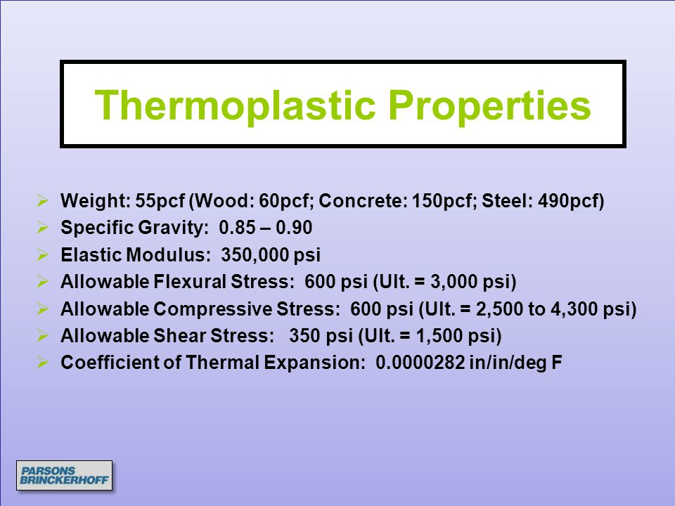 Thermoplastic Properties