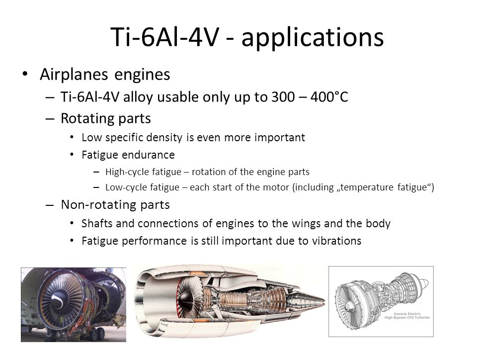 Ti-6Al-4V - applications