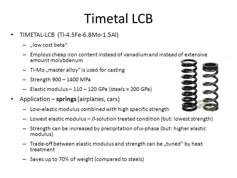 Timetal LCB TIMETAL-LCB (Ti-4.5Fe-6.8Mo-1.5Al)