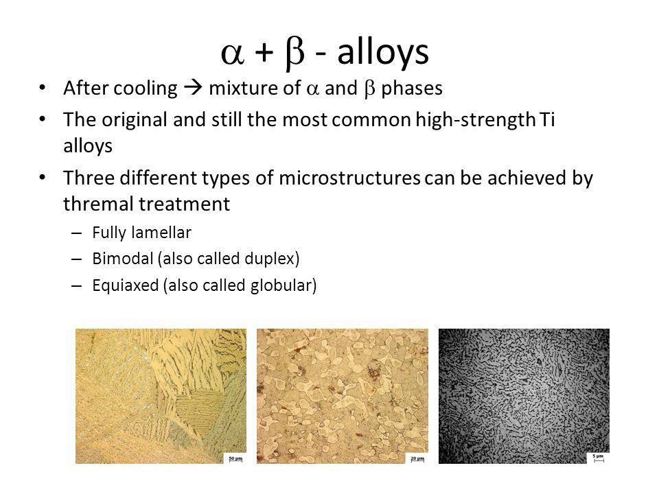 a + b - alloys After cooling  mixture of a and b phases