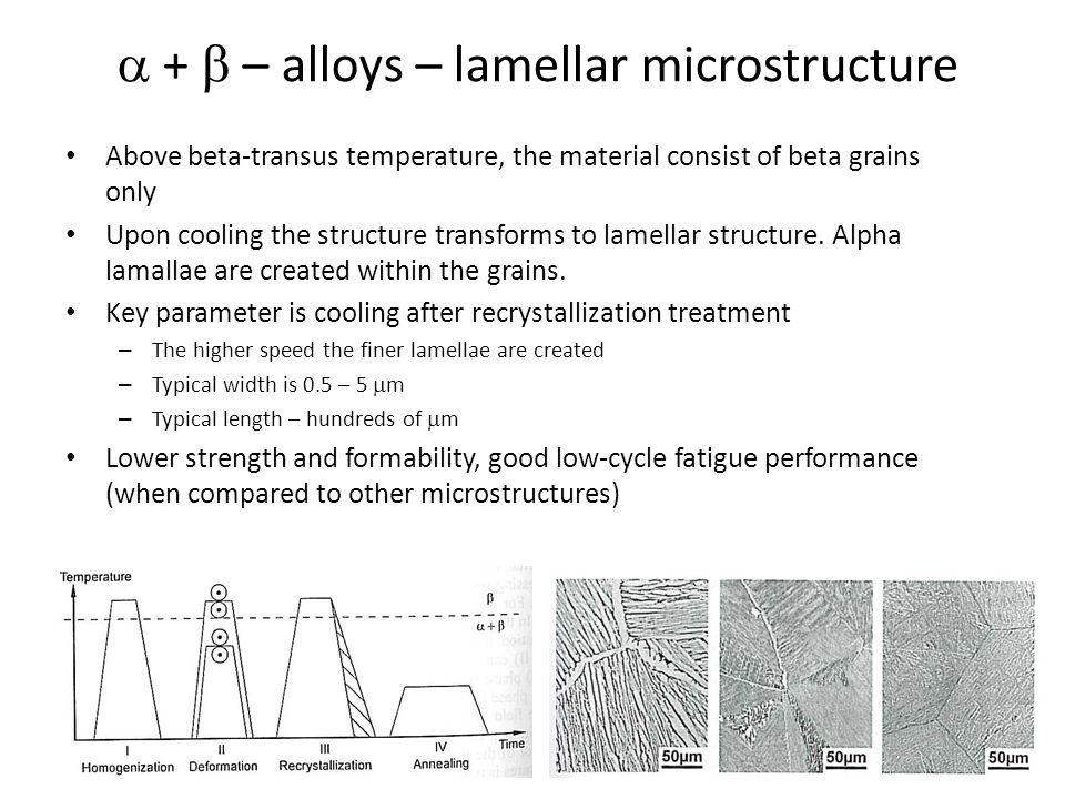 a + b – alloys – lamellar microstructure